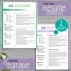 resume template clean look color - Resume Template Color