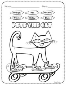 Pete the cat activities the cheekycherubs for No david coloring page