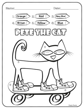 Pete The Cat - Activities - The CheekyCherubs