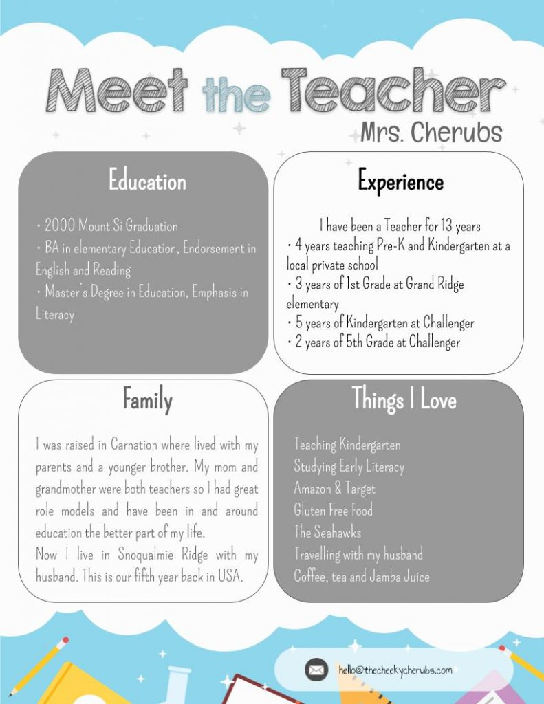 3 Tips for 'Meet the Teacher Night' - The CheekyCherubs